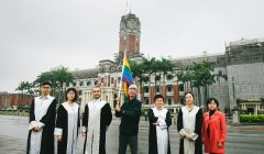 「國際不再恐同日,台灣完成同婚法制化」記者會