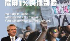 阿根廷公部門保障雇用 1% 跨性別者,台灣如何去除歧視?