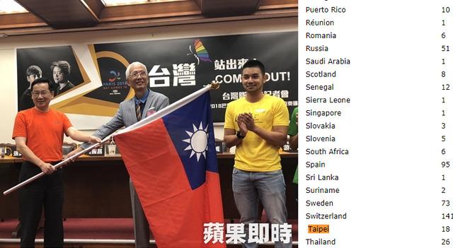 以「台灣」之名參與國際同運會 讓同志和台灣一起走出來吧!