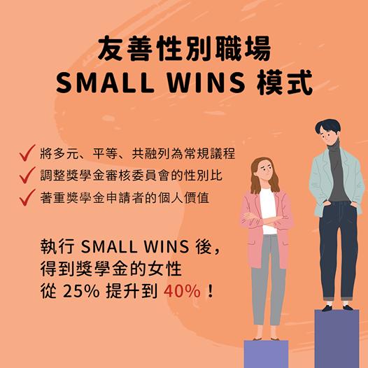 職場文化小變革,性別平等大前進 : 友善性別 SMALL WINS 模式